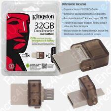 Clé USB 32 Giga OTG Datatraveler MicroDuo Kingston existe aussi en 8 16 64 Go Gb
