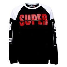 B4171 felpa uomo STK SUPERTOKYO bianco/nero sweatshirt man