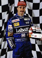 Nigel Mansell SIGNED AUTOGRAPH 16x12 Photo AFTAL COA F1 World Champion Legend