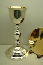 "+ Classic Byzantine Chalice & Paten set + 9 5/8"" ht. + New + European made +"