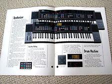 Yamaha DSR-2000/DSR-1000 synthesizer keyboard brochure