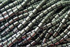 2 Strands of Hematite Drum Beads Superior Quality