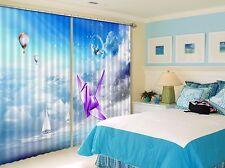 3D Paper Crane 6Blockout Photo Curtain Printing Curtains Drapes Fabric Window CA