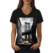 Brooklyn Bridge Women V-Neck T-shirt NEW | Wellcoda