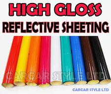 【HIGH Gloss 600MM X 1 M】Reflective Sheet Vehicle Wrap Vinyl Sticker  ALL COLOURS
