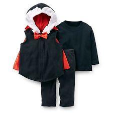 NWT Carter's 3pc Count Dracula Fleece Costume Vampire Halloween 6-9M 12M 18M Bat