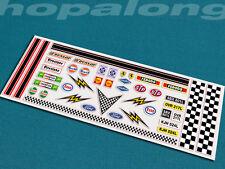 Scalextric / Slot Car 1 / 32ede échelle peel & bâton stickers. DS003