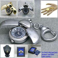 Key Chain Necklace Gift Box L43 Antique Lady Bug Locket Pocket Pendant Watch