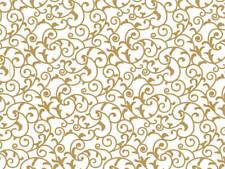 "Elegant Gold Scroll Design Tissue Paper Sheets 20"" x 30"" Choose Package Amount"