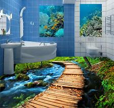 3D Ponte In Legno 284 Pavimento Foto Wallpaper Murales Muro Stampa Decalcomania