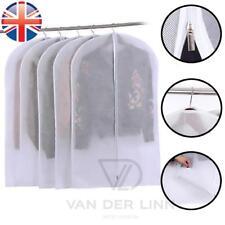 *UK Seller* WHITE PREMIUM Suit Garment Covers Clothes Carrier Travel Bag 4 Sizes