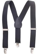 """New 1"""" Black Suspenders Baby, Toddlers, Kids, Boys Elastic Adjustable - Made in"""