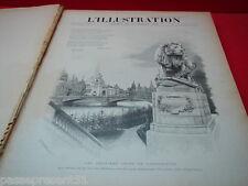 L'illustration certains numéros du 10 novembre 1900 au 18 mai 1907
