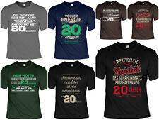 20.Geburtstag Sprüche T-Shirt - 20 Jahre - Coole Sprüche / Motive Geburtstag 20