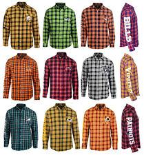 NFL WORDMARK FLANNEL Team Logo Long Sleeve Shirt Officially Licensed NWT