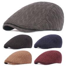 Herren Mützen Winter warme gestrickte Wolle Hut dick Golf Barett Kappe Hüte