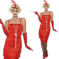 Long Red Flapper Fancy Dress Womens Costume 1920s Hen Party Ideas Smiffys 45501