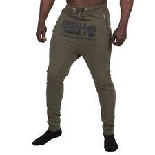 GORILLA WEAR ALABAMA Gota Crotch Joggers Ejército Verde