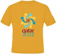 Sports Cool 2022 World Cup Quatar Soccer Orange T Shirt