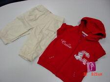 NWT Disney Toddler Girl Capri Set Red 4T Hooded Shirt Cat Kitten Cutie