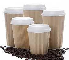 4/8/12/16/20oz ISOLATO Ripple Carta Kraft usa e getta tazze da caffè bianco COPERCHIO SIP