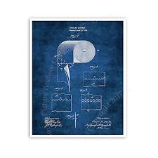 Toilet Paper Roll Blueprint Diagram Unframed Poster Bathroom Decor