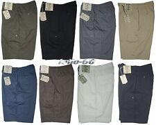 Pantalone corto uomo M L XL XXL 3XL Bermuda tasconi SEA BARRIER cotone leggero