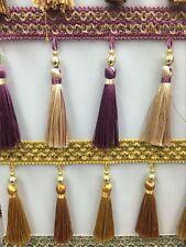 """Tassel frange avec perles pour rideau tresse 4"""" 11.5cm"""