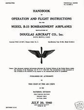 DOUGLAS B-23 DRAGON - T.O.No.01-40EC-1 - HANDBOOK