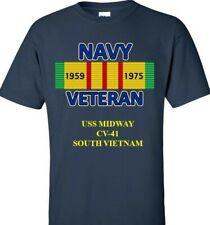 USS MIDWAY  CV-41 VIETNAM CAMPAIGN RIBBON & SILKSCREEN  SHIRT/SWEAT