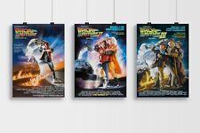 Ritorno al futuro trilogia film 1, 2, 3 POSTER COLLECTION A4 & A3 Taglia