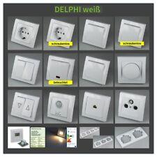 Delphi Serie Weiß UP Steckdose Schalter Taster Bewegungsmelder Dimmer LED 11954