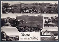 VERBANIA STRESA 77 VEDUTINE Cartolina FOTOGRAFICA