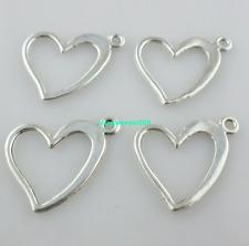 100/800pcs Jewelry Making Tibetan Silver heart Charm Spacer Pendants 16*16mm