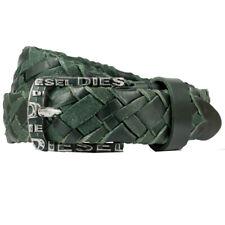 Diesel Betric Belt geflochtener Leder Gürtel mit Schriftzug Neu
