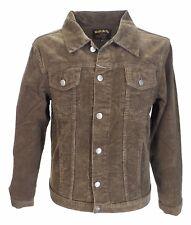 Mens 60s Retro Vintage Brown Cord Western Trucker Jacket …