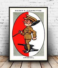Arsenal , Ogden Cigarette card  advert : Reproduction advert, poster, Wall art.