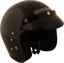 Duchinni D501 Open Face Motorcycle Helmet Gloss Black Crash Lids Scooter Bike