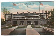 Boat & Canoe club Grand Rapids Michigan 1917 postcard