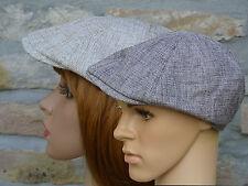 Herren Damen Mütze Leinenmütze Cap Flatcap Sommermütze Schiebermütze Schirmmütze