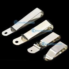 Metal Belt Clip Holster Sheath Clasp Spring Hook Buckle Leather Craft Keyring L