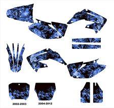 CR 125 250 graphics for Honda 2002 2003 2004 2005 2006 2012 #9500 Blue Zombie
