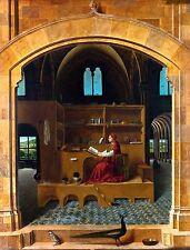 Antonello da Messina - St Jerome in his study, Poster, Christian, Canvas Print