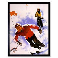 Advert Sport Clothes Jantzen Winter Ski Snow Slalom 12X16 Inch Framed Art Print