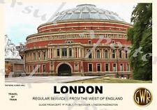 Vintage Style Railway Poster London Royal Albert Hall A4/A3/A2 Print