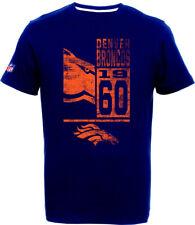 Denver Broncos T-Shirt Tee,NFL Football,100% BW,Logo,Team,from Majestic