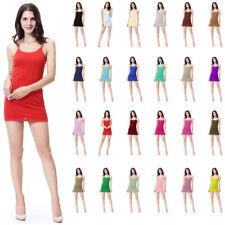 Summer Lady Women Bodycon Elastic Sleeveless Strap Slip Short Skirt Mini Dress