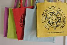 Natural réutilisables biodégradable square cabas jute sac cadeau-joblots couleur...