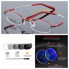 1b4cd0ff2 Multifocal progressiva Fotocrômico Titânio Gravado Feminino Óculos de  leitura
