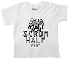 "bebé camiseta rugby"" Scrum Cuarto De Litro "" Niño Niña Camiseta Deporte Ropa"